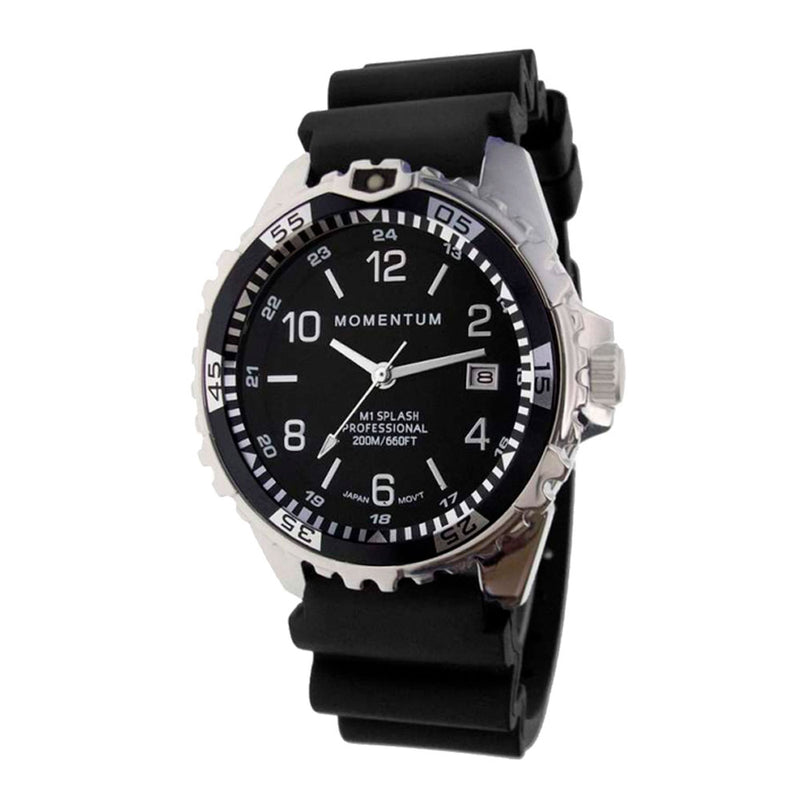 Momentum Splash - Black Face, Black Twist & Rubber Strap