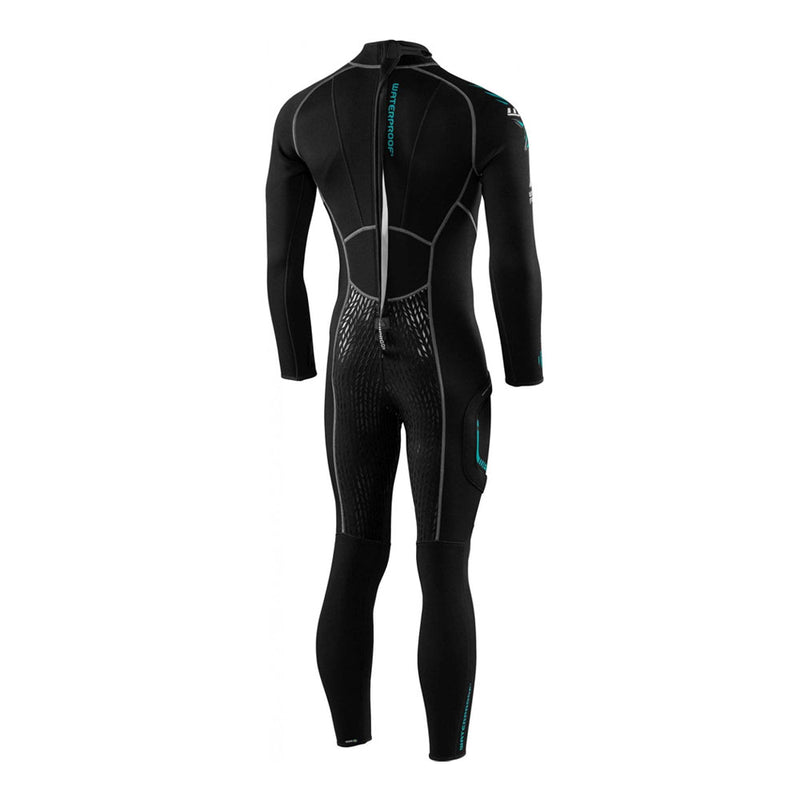 Waterproof W30 2.5mm Mens Wetsuit from the back | Scuba Leeds UK