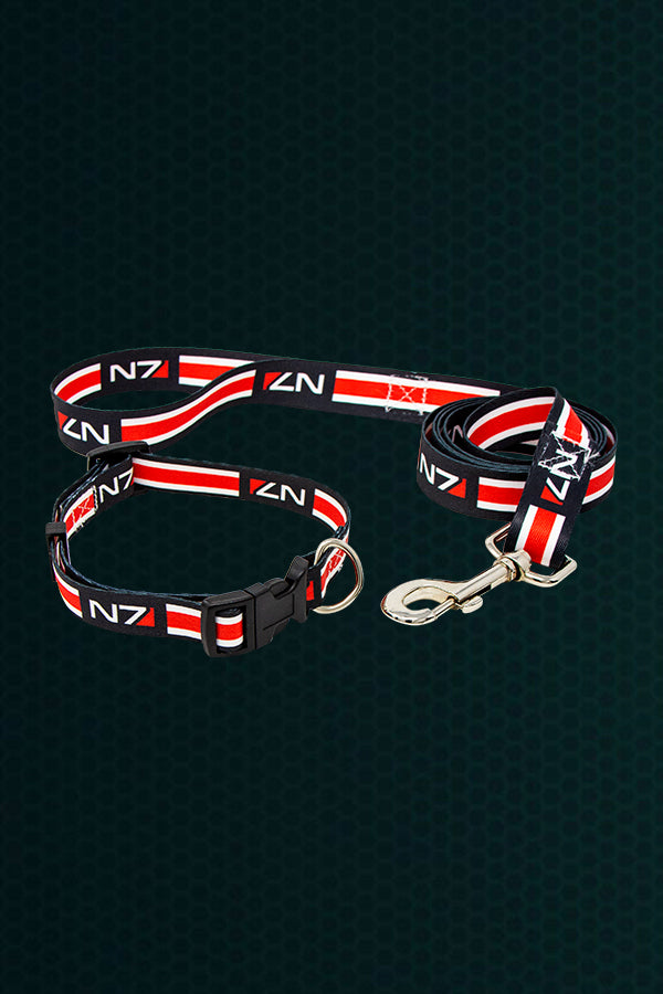 N7 Dog Collar and Leash Set