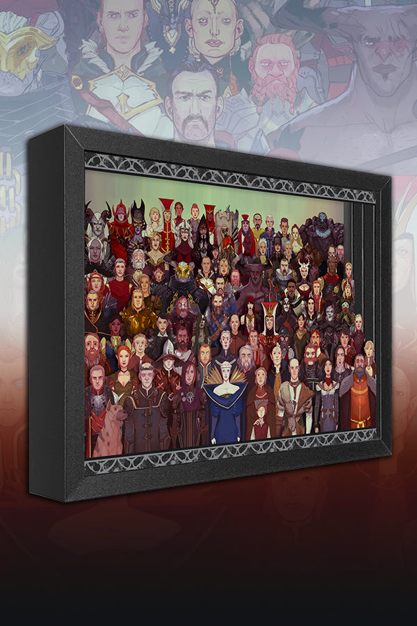 Dragon Age Cast of Thousands Shadow Box