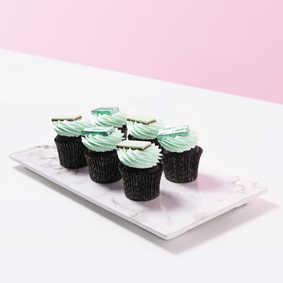 Andes Mint Chocolate Cupcake (12 Pieces) - CakeRush