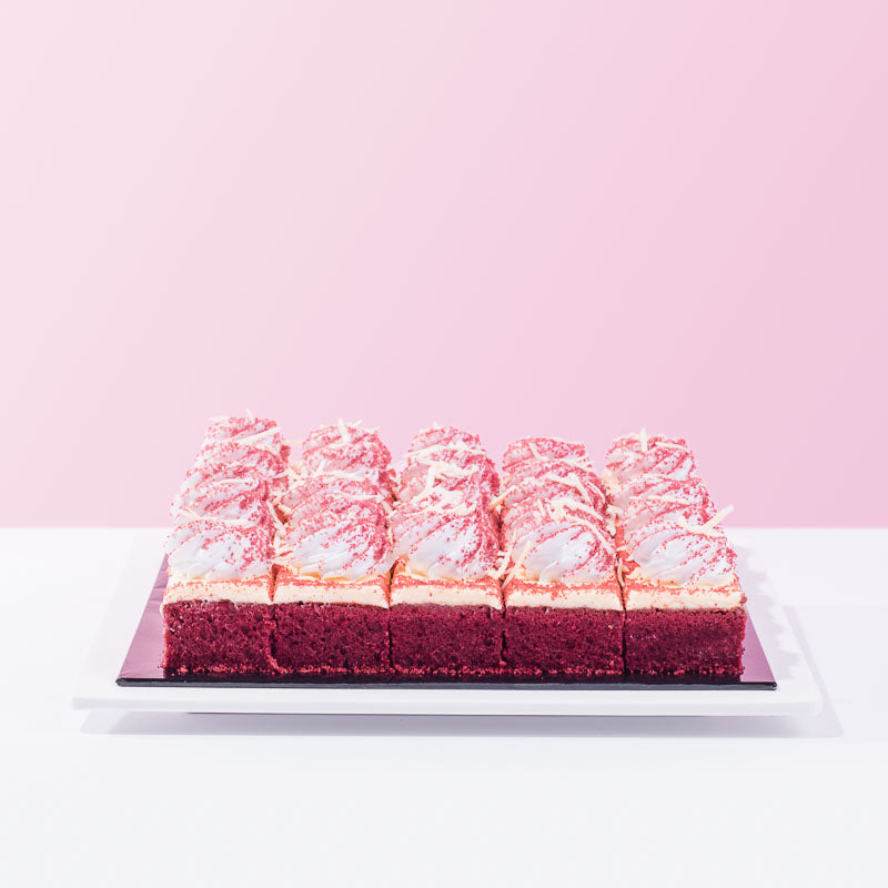 Red Velvet Squares (25 Pieces) - CakeRush