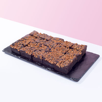 Salted Toffee Walnut Brownie - CakeRush