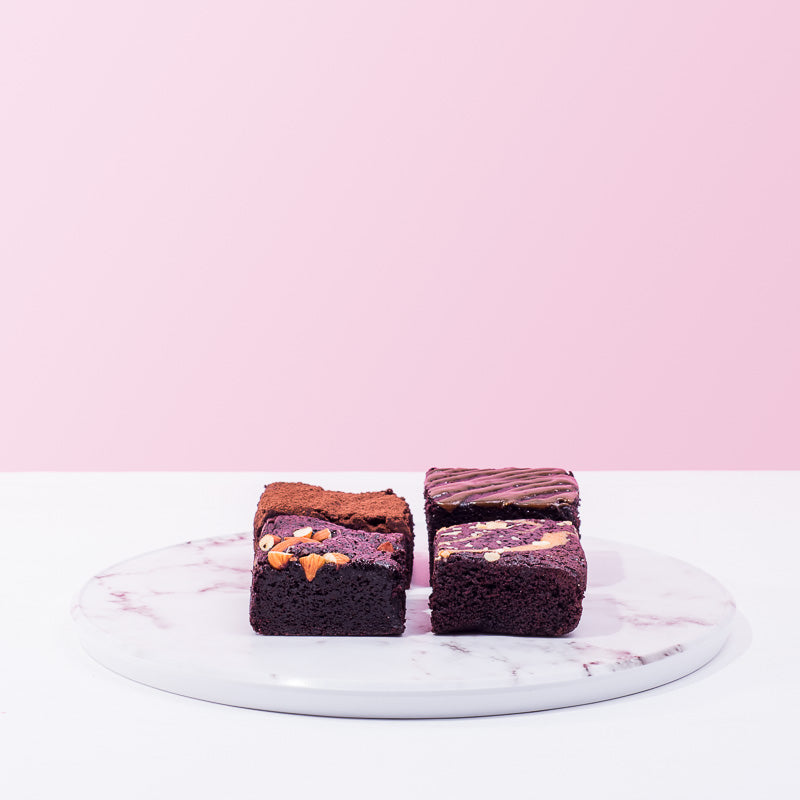 Signature Assorted 4 Piece Brownies - CakeRush