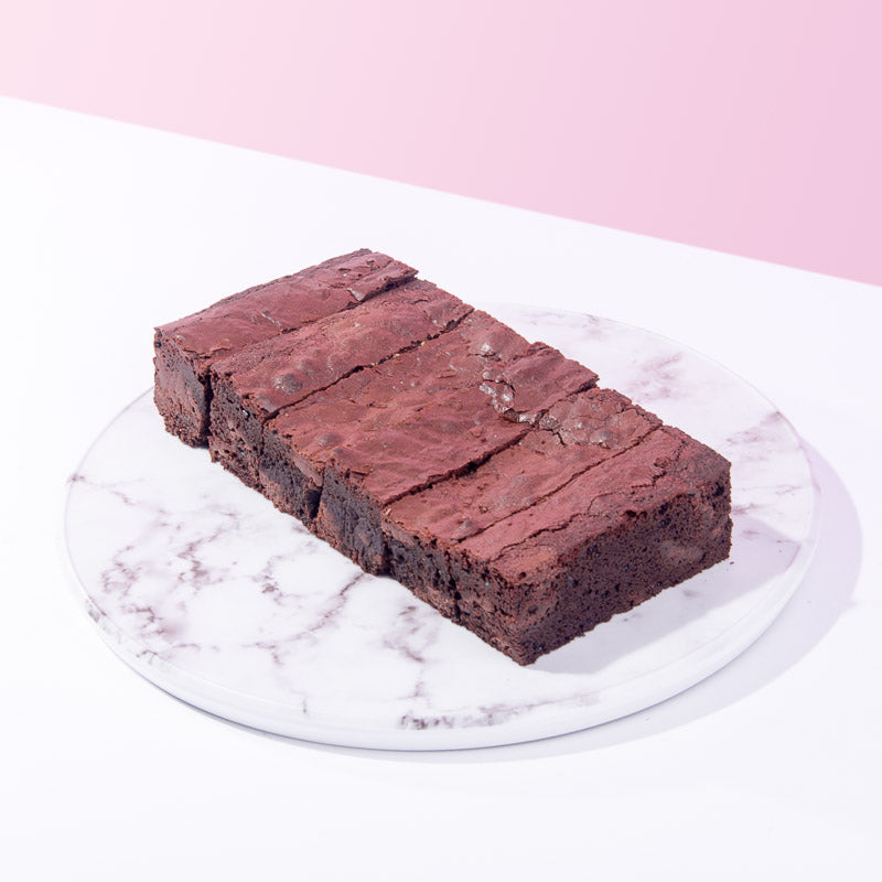Classic Fudge Brownies (6 Pieces) - CakeRush