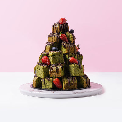 Green Tea Stacked Brownies (36 Pieces) - CakeRush