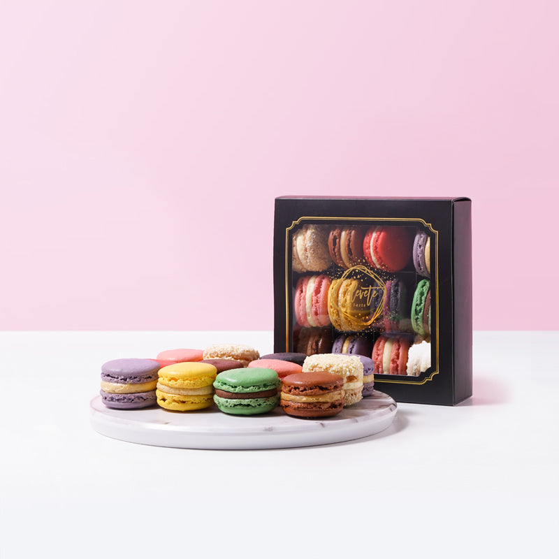 Macarons Box (12 Assorted Macarons) - CakeRush