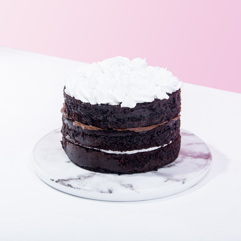 Heavenly Black and White Cake - CakeRush