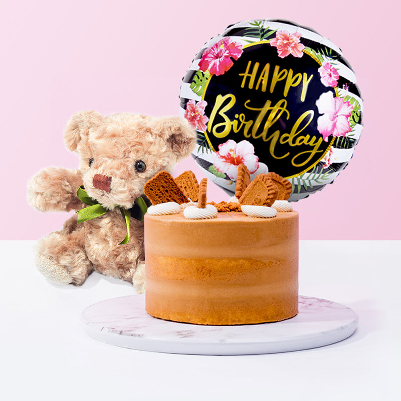Lotus Caramelised Cookies Cake Bundle - CakeRush