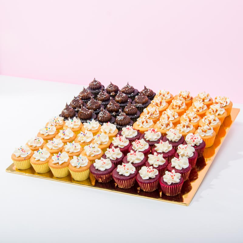 Mini Mixed Cupcakes (64 Pieces) - CakeRush