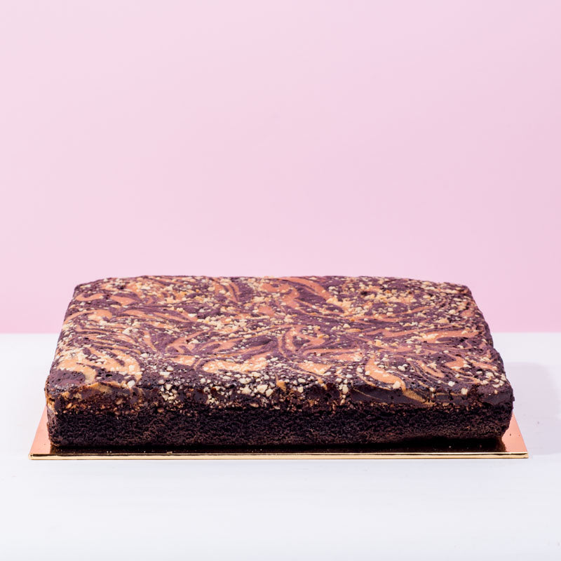 Peanut Butter Brownies - CakeRush