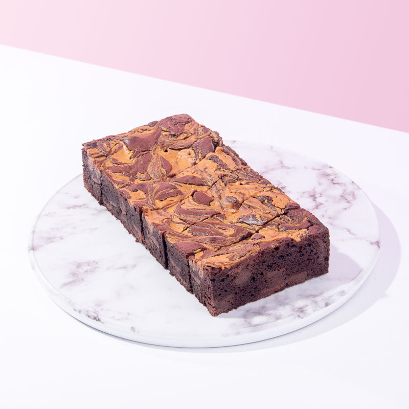 Peanut Butter Swirl Brownies (6 Pieces) - CakeRush