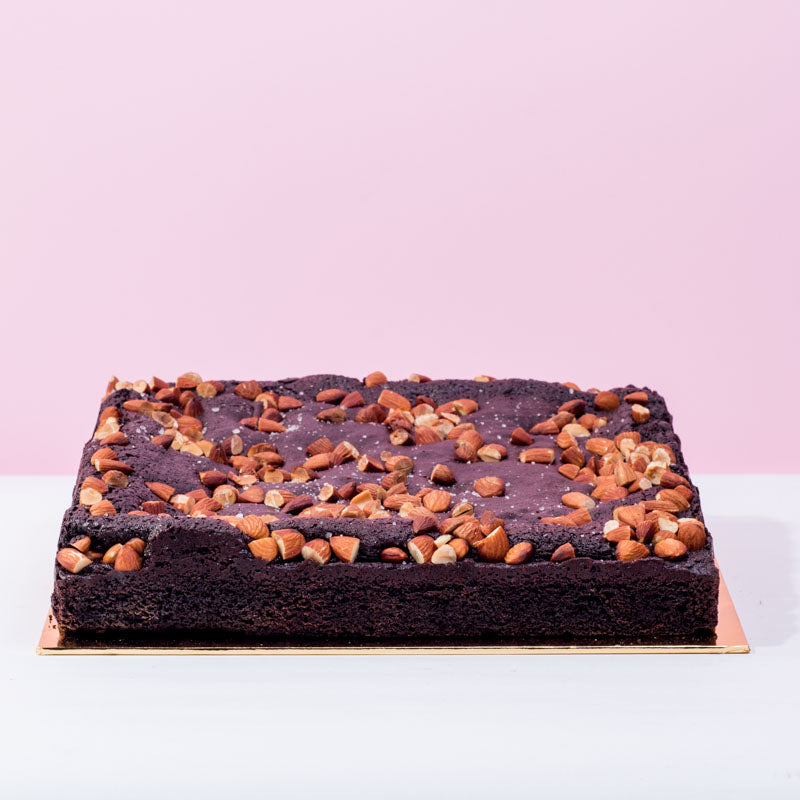 Sea Salt Almond Brownies - CakeRush