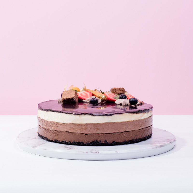 Triple Chocolate Cheese Cake - CakeRush