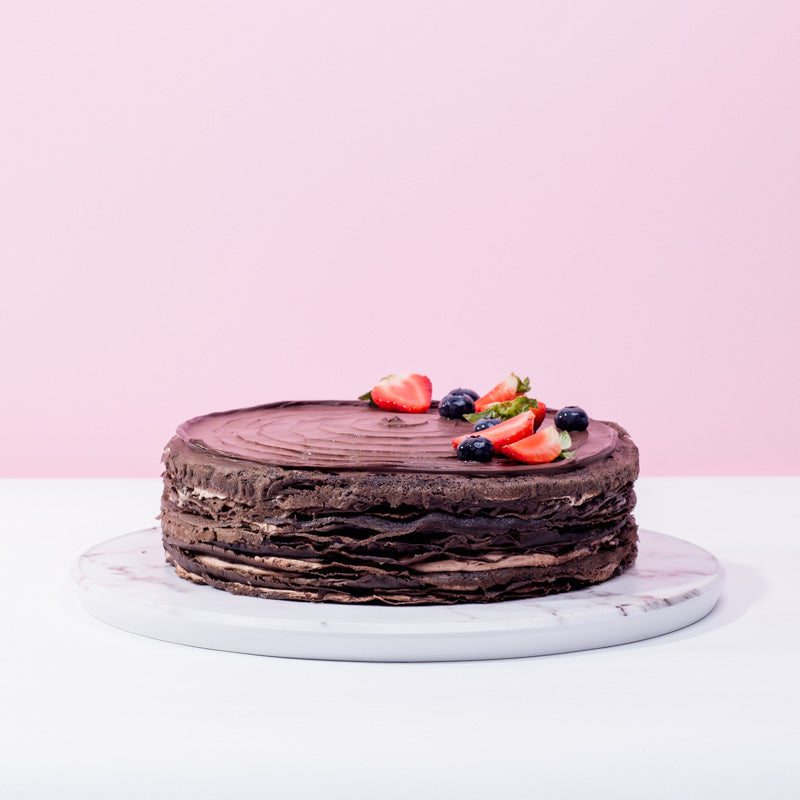 Triple Chocolate Mille Crepe - CakeRush