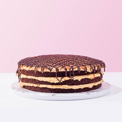 Salted Caramel Chocolate Drizzle Cake - CakeRush