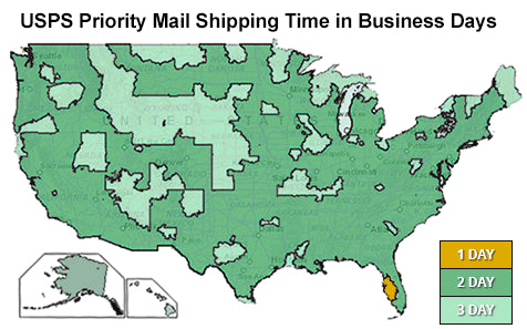 USPS Priority Mail Holiday Map