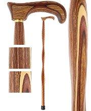 American Woodcrafter Bean Colortone Twist Derby Handle Walking Cane With laminate Birchwood Shaft