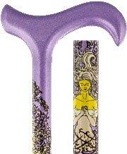 Carbon Canes Purple with Lady Godess in Vines Derby Carbon Fiber Walking Cane