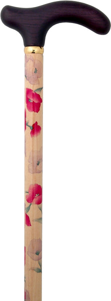 Classic Canes Purple Petite Derby Walking Cane With Painted Beechwood Shaft and Brass Collar
