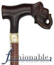 Comoys Elephant T Handle Walking Cane With Beechwood Shaft and Brass Collar
