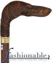 Comoys Hound L Shape Handle Walking Cane With Beechwood Shaft and Brass Collar