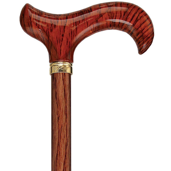 Fashionable Canes Realistic Wood Designer Adjustable Cane w/ SafeTbase