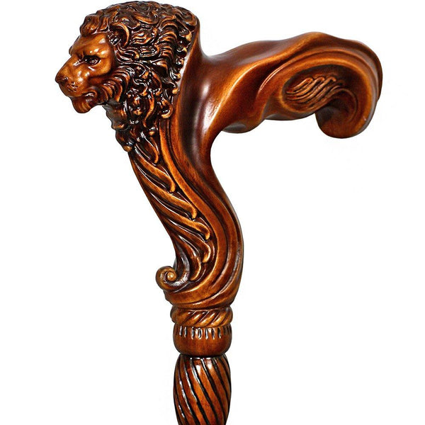 Igor Lion Head Right Hand Ergonomic Handcarved Cane
