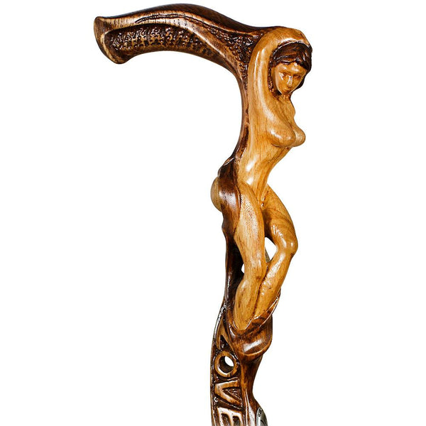 Igor Mother Nature Oak Wood Artisan Intricate Handcarved Cane
