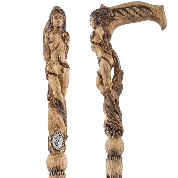 Igor Ships Lady Figurehead - Intricate Handcarved Cane