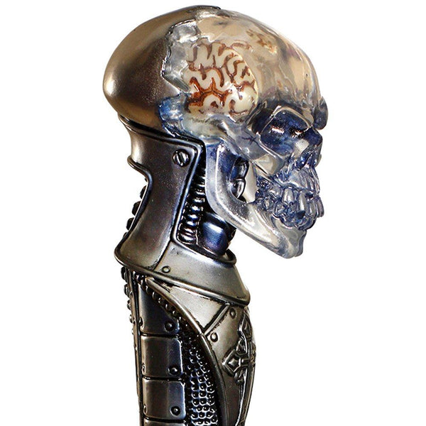 Igor Crystal Skull Glow in the Dark Brain Walking Cane