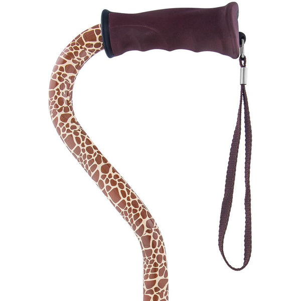 Royal Canes Wild Giraffe Offset Walking Cane with Comfort Grip