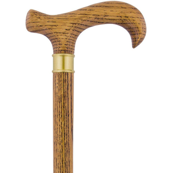 Royal Canes Extra Long, Super Strong Oak Derby Walking Cane w/ Brass collar