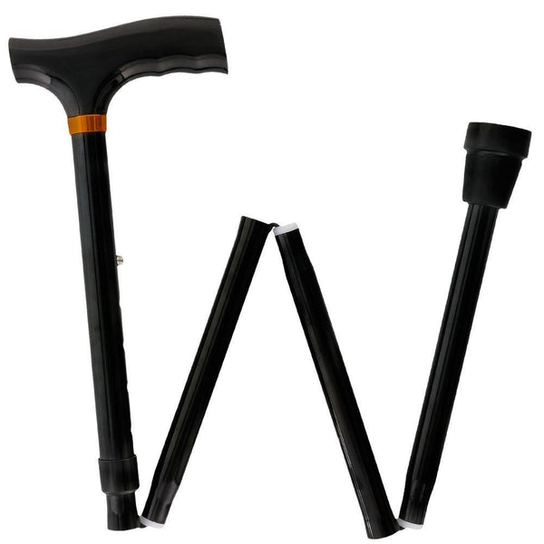 Royal Canes Black Adjustable Folding Cane with T Shape Handle
