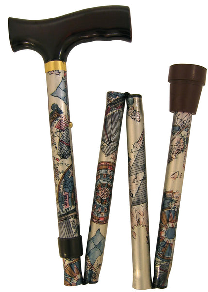 Royal Canes Folding Cane Classic - Compass Rose
