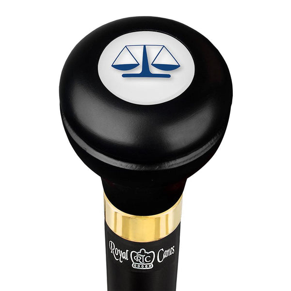 Royal Canes Legal lawyer Flask Walking Stick w/ Black Beechwood Shaft & Pewter Collar