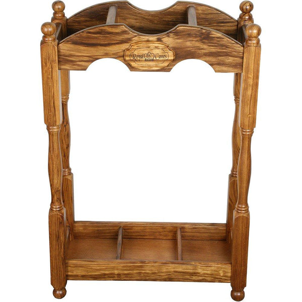 Royal Canes Square Cane Stand- Zebrano Wood