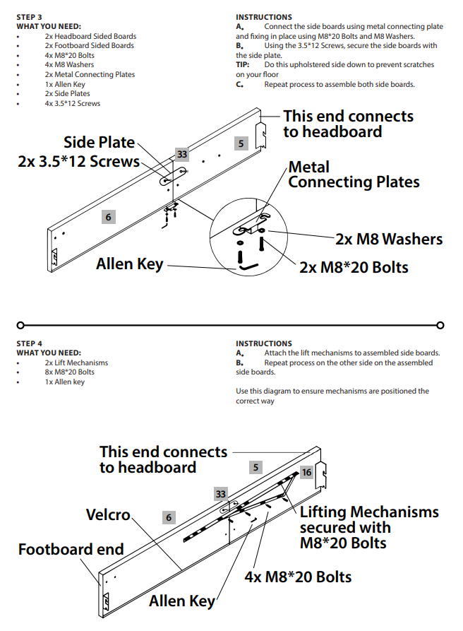 Bed Assembly 2nd Set of Instructions