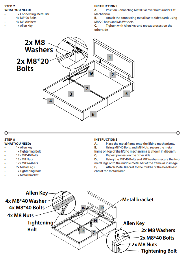 Bed Assembly 4th Set of Instructions