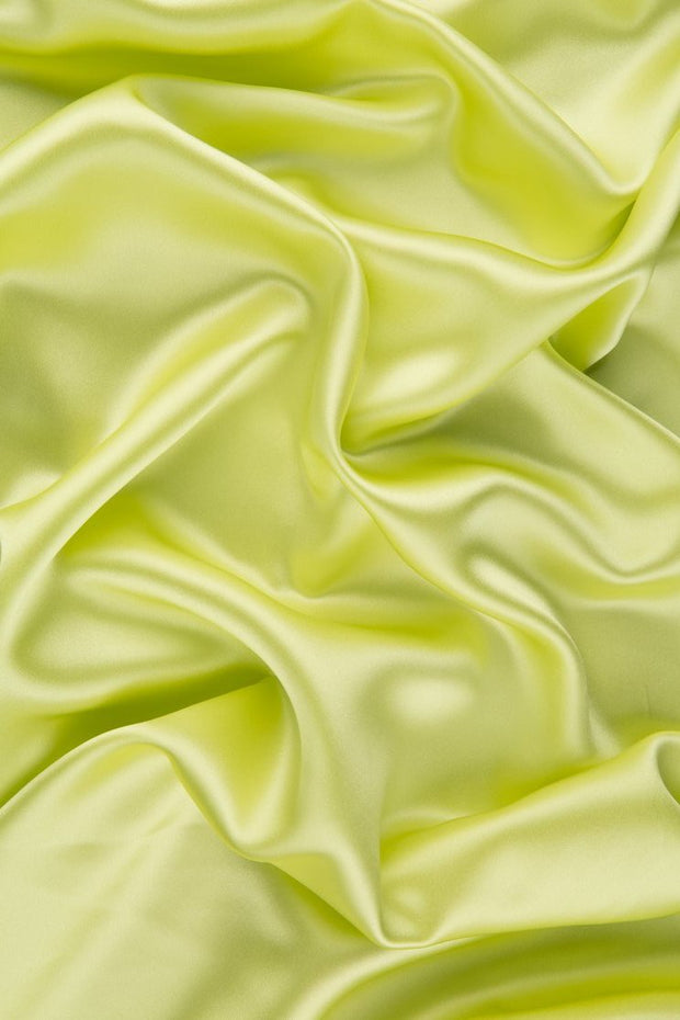 Sunny Lime Stretch Charmeuse Fabric