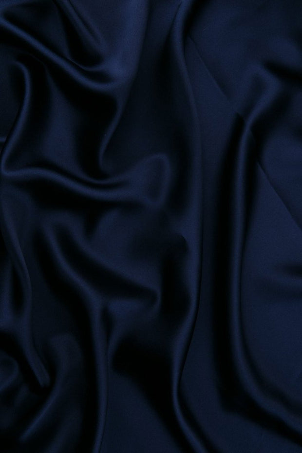 Twilight Blue Stretch Charmeuse Fabric