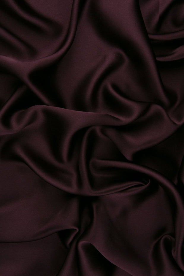 Eggplant Stretch Charmeuse Fabric