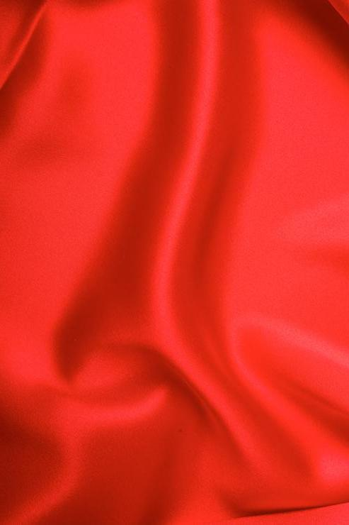 Tomato Red Stretch Charmeuse Fabric