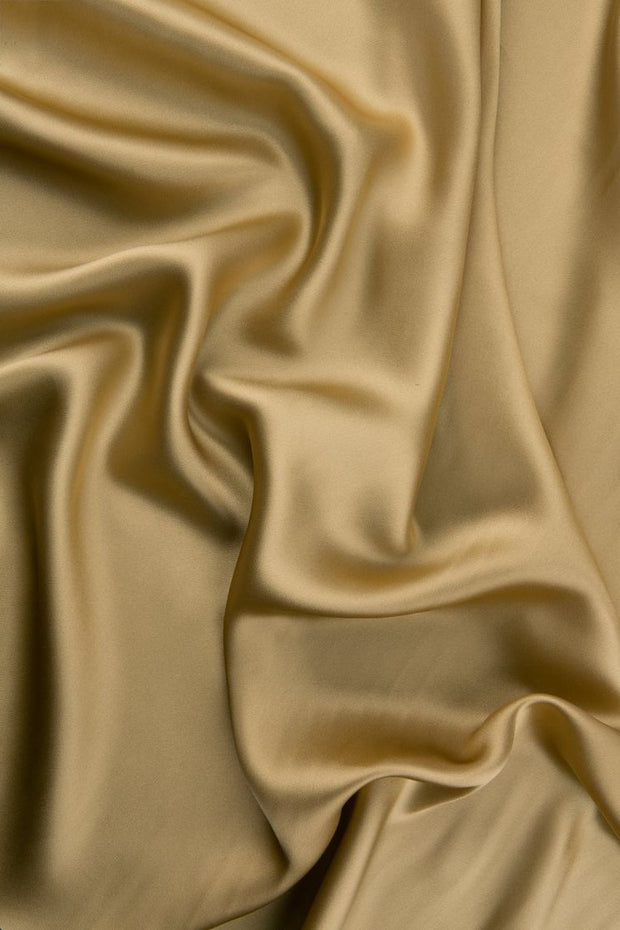 Latte Stretch Charmeuse Fabric