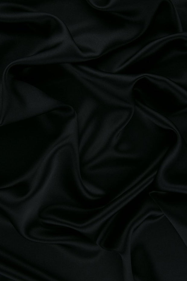 Dark Navy Stretch Charmeuse Fabric