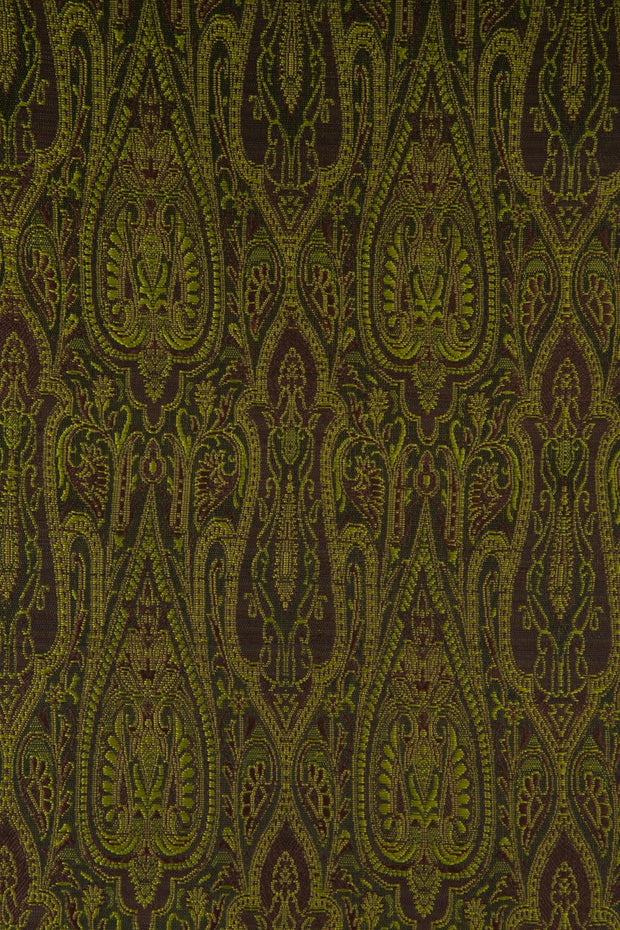 Moss Green Silk Brocade 402 Fabric