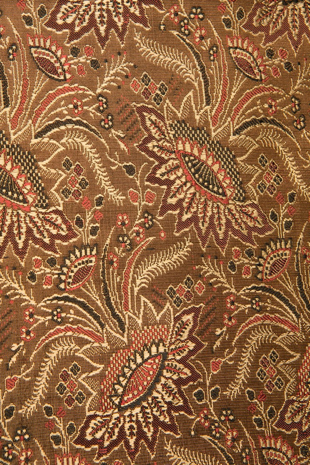 Brown Silk Brocade 418 Fabric