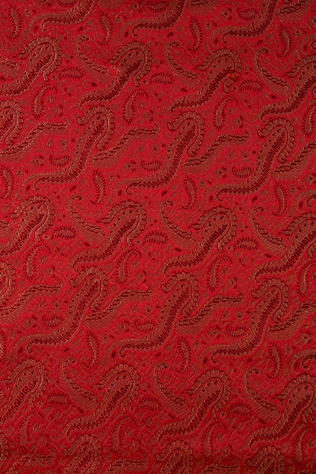 Red Silk Brocade 419 Fabric