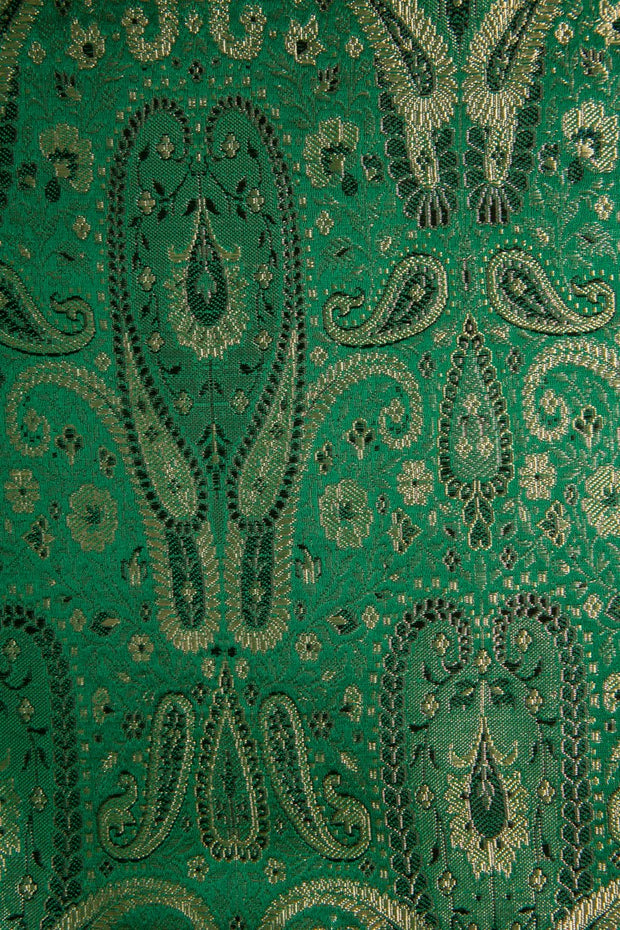 Green Silk Brocade 429 Fabric