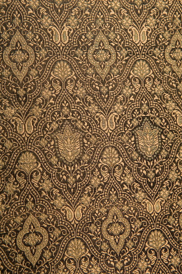 Black Gold Silk Brocade 433 Fabric